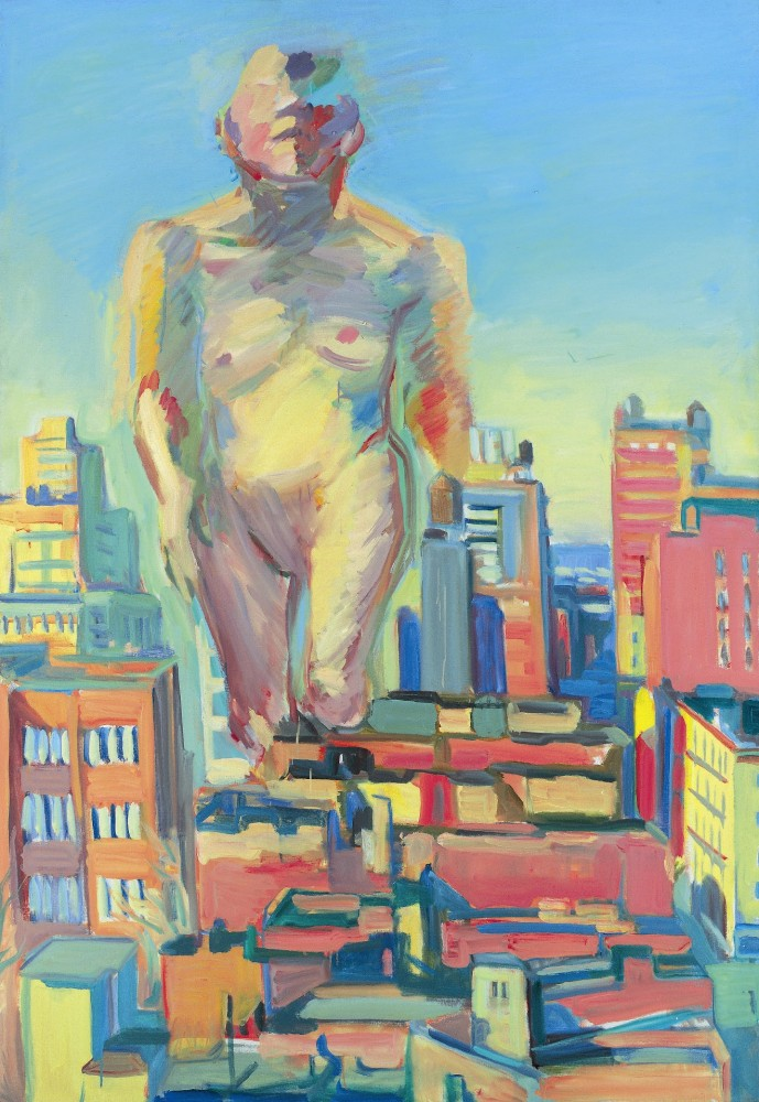 Maria Lassnig, Woman Power, 1979, olio su tela, Vienna, The Albertina Museum, The Essl Collection. © Maria Lassnig Foundation; Graphisches Atelier Neumann, Vienna