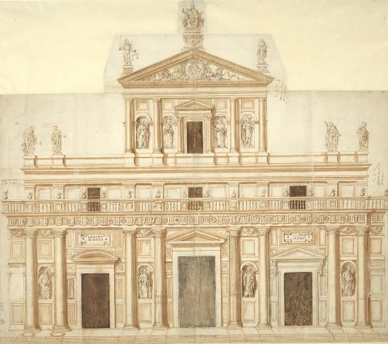 Giuliano da Sangallo, Progetto per San Lorenzo a Firenze, Firenze, Gallerie degli Uffizi, Gabinetto dei Disegni e delle Stampe