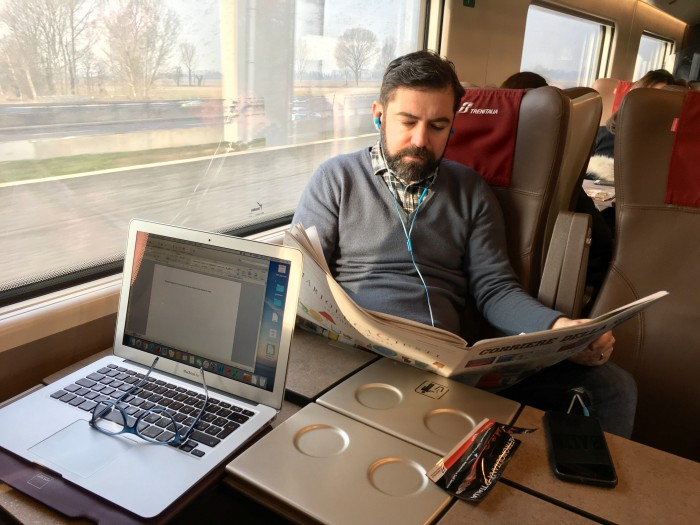 I wrote this article about train travel in Italy while... on a train!!