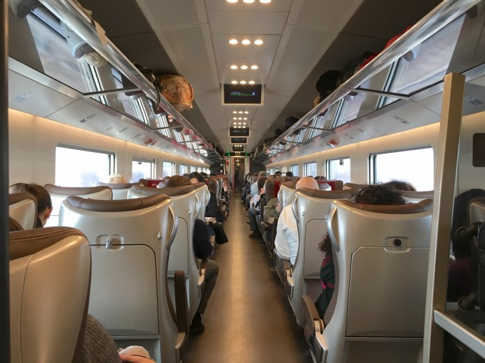 A view of Trenitalia's Executive class new train