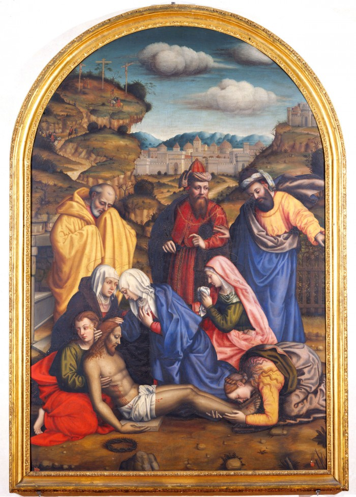 Nelli's Lamentation with Saints at San Marco is inspired by a number of Fra Bartolomeo's drawings