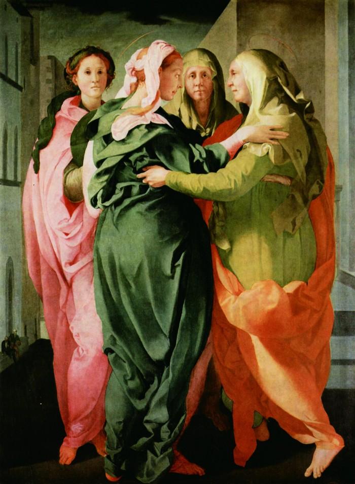 Pontormo (Jacopo Carrucci; Pontorme, Empoli 1494–Florence 1557) Visitation c. 1528–9, oil on board, 207 x 159.4 cm. Carmignano, Pieve di San Michele Arcangelo