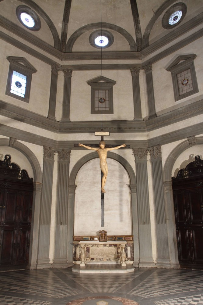 Michelangelo Crucifix at Santo Spirito | photo Albino Todeschini