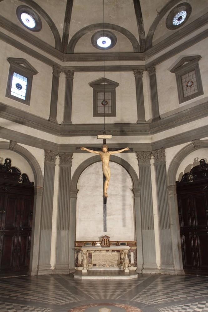 Michelangelo Crucifix at Santo Spirito | photo Albino Todeschini