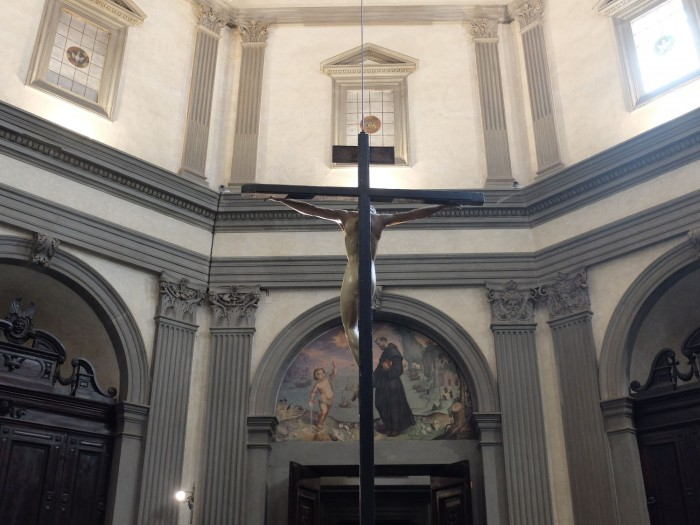 Santo Spirito Crucifix from behind