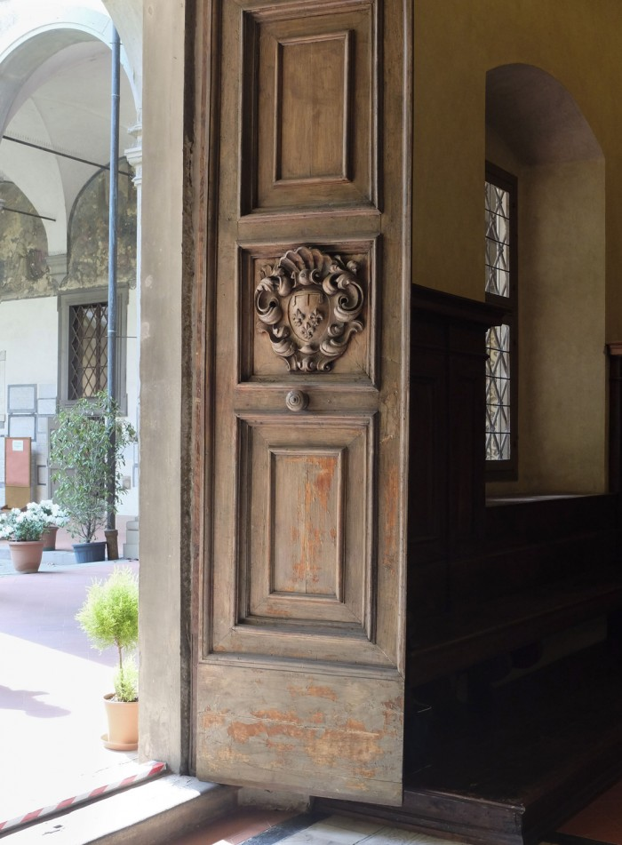 Doorway to the new refectory