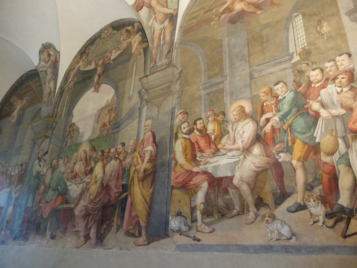 Best possible view of this fresco :)