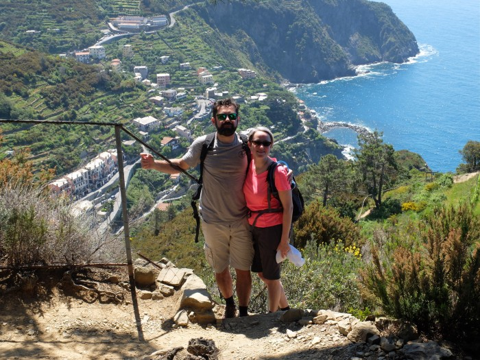 Hiking in the cinque terre is great exercise