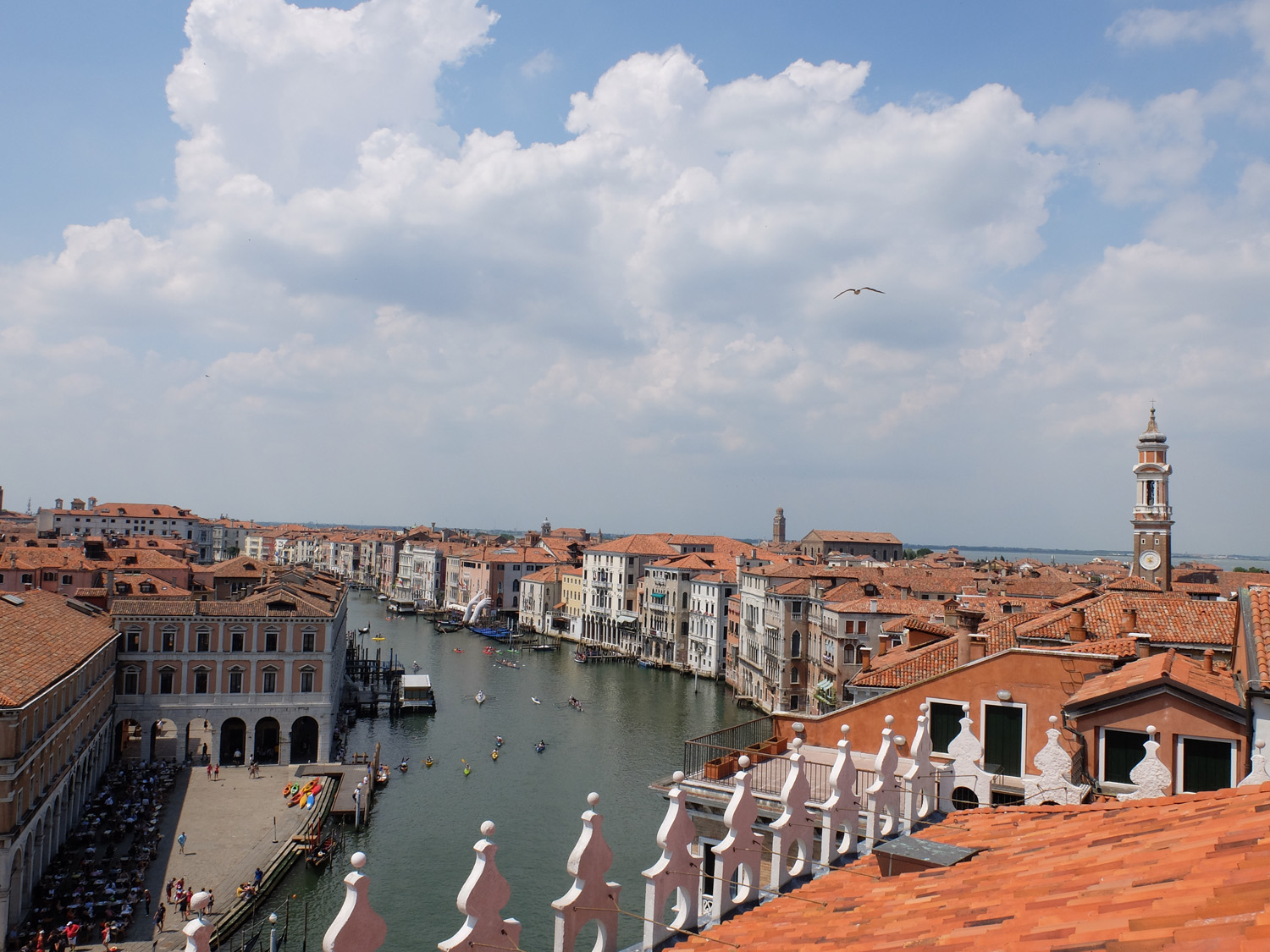 The view of Venice's grand canal from Fondaco dei Tedeschi