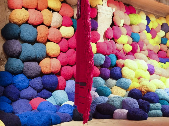 Sheila Hicks' wool work in the main exhibition is one of the most Instagrammed works in the Biennale.