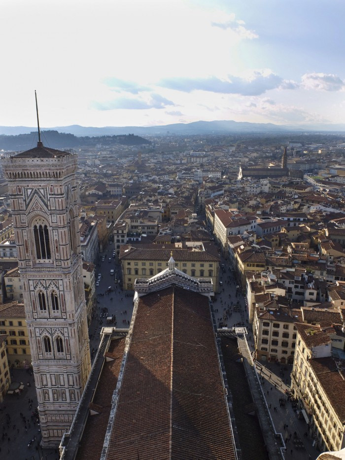 View of Florence from the terrace level of the Duomo