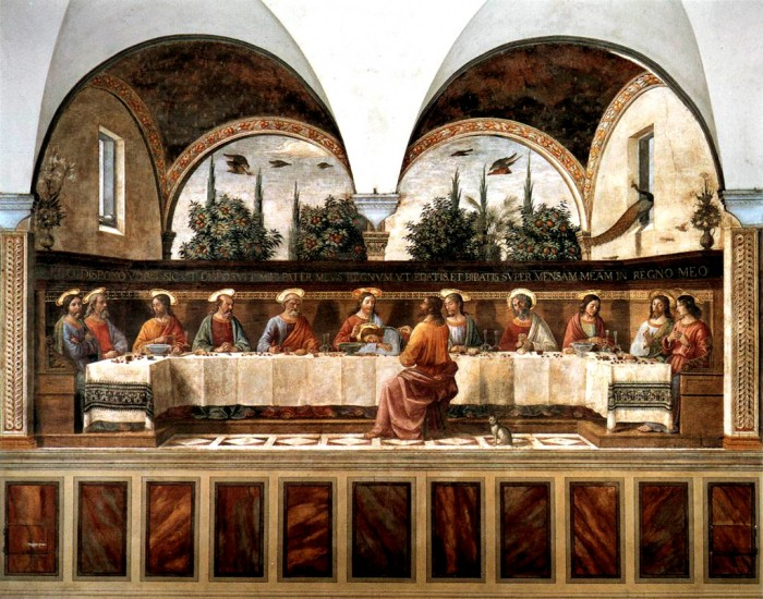 Ghirlandaio workshop fresco of the Last Supper at San Marco