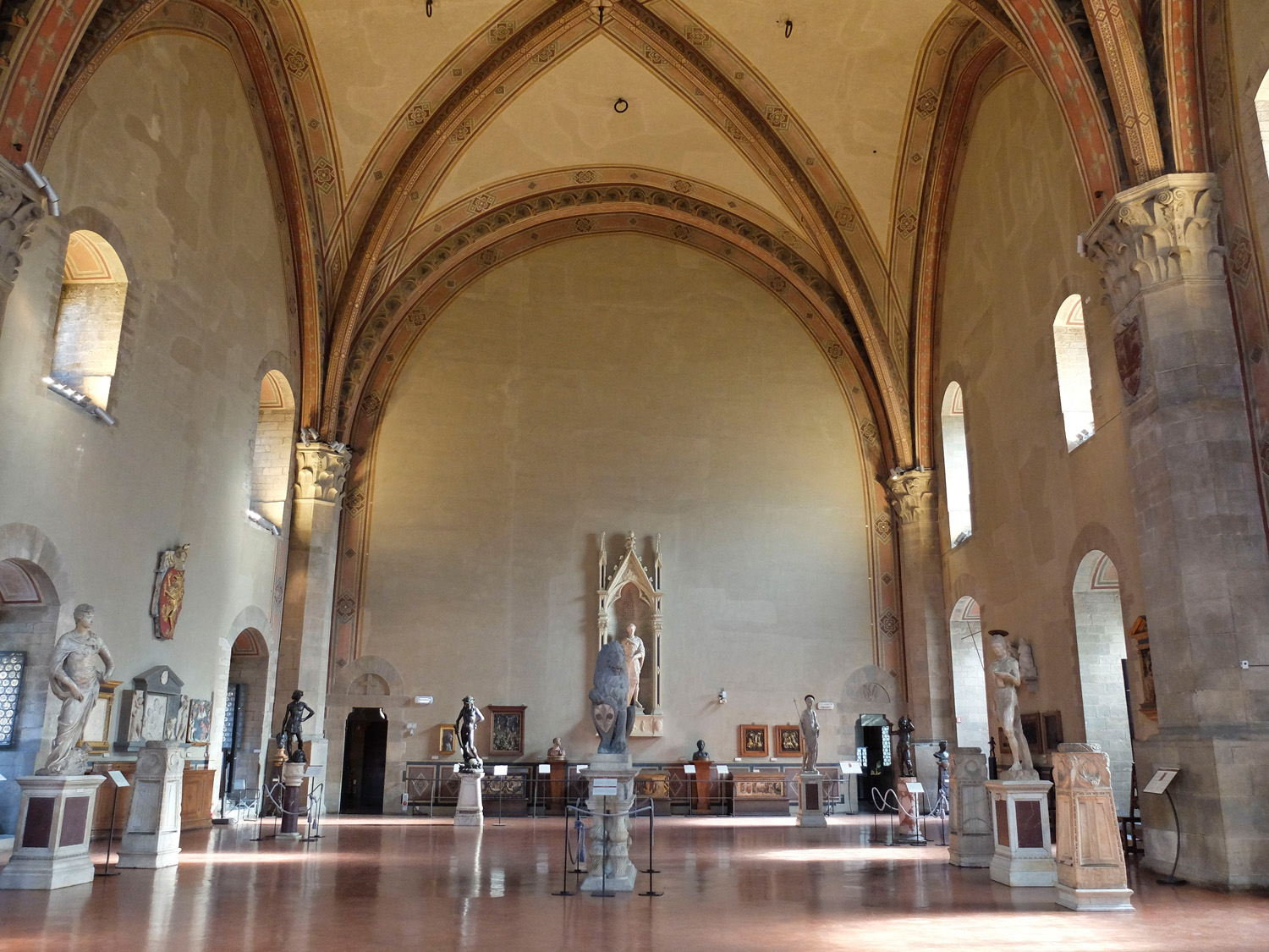 The Donatello room in the Bargello first thing in the morning!