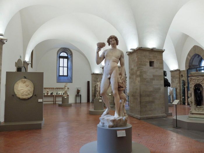 Michelangelo's Bacchus in the room dedicated to the artist