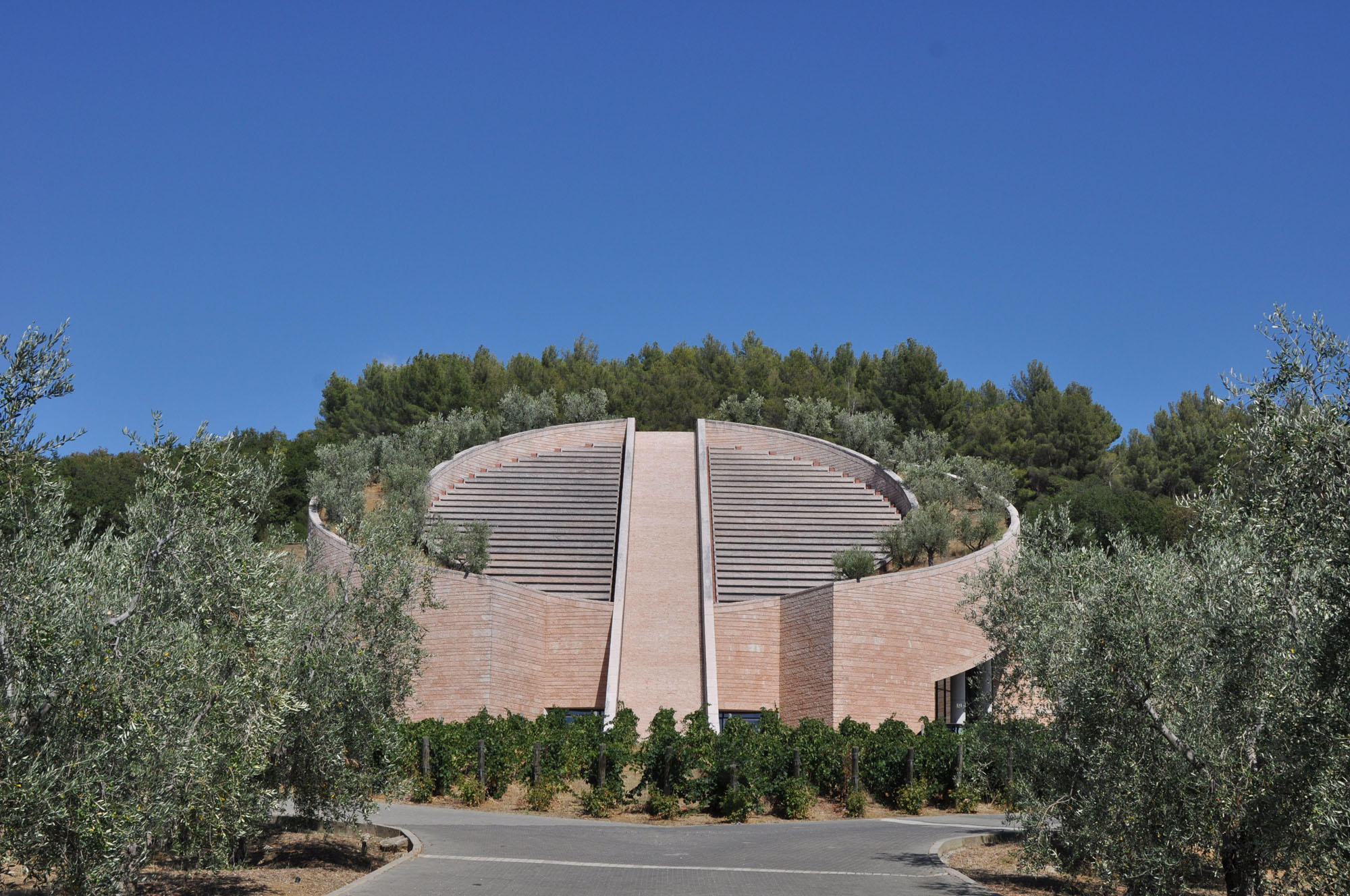 Petra, a winery in Maremma, was designed by architect Mario Botta