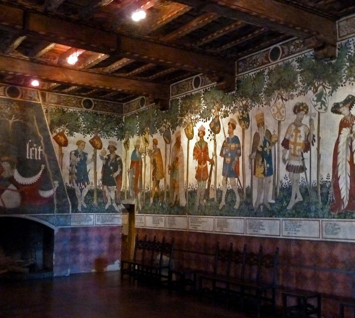 The Audience Chamber of Valerano of Saluzzo, Castle of La Manta. Photo: Author.