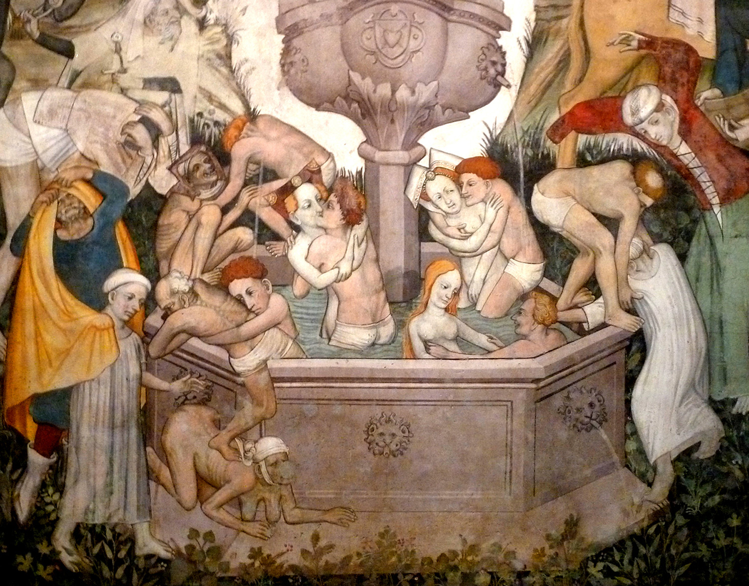 ANONYMOUS The Search for the Fountain of Youth. Fresco, circa 1416-17. Photo: Author.