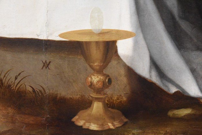 Detail of the host in Andrea del Sarto's altarpiece