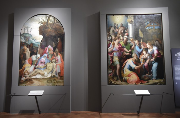Two counter reformation altarpieces