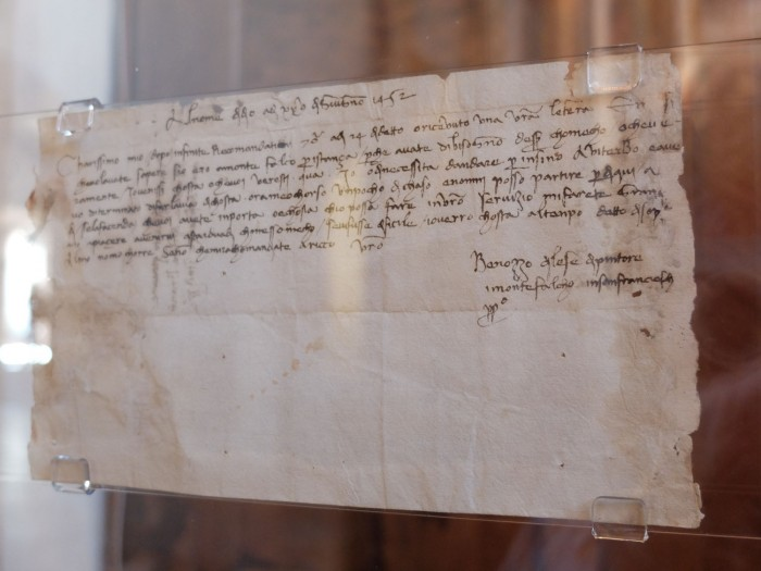 A letter from Benozzo