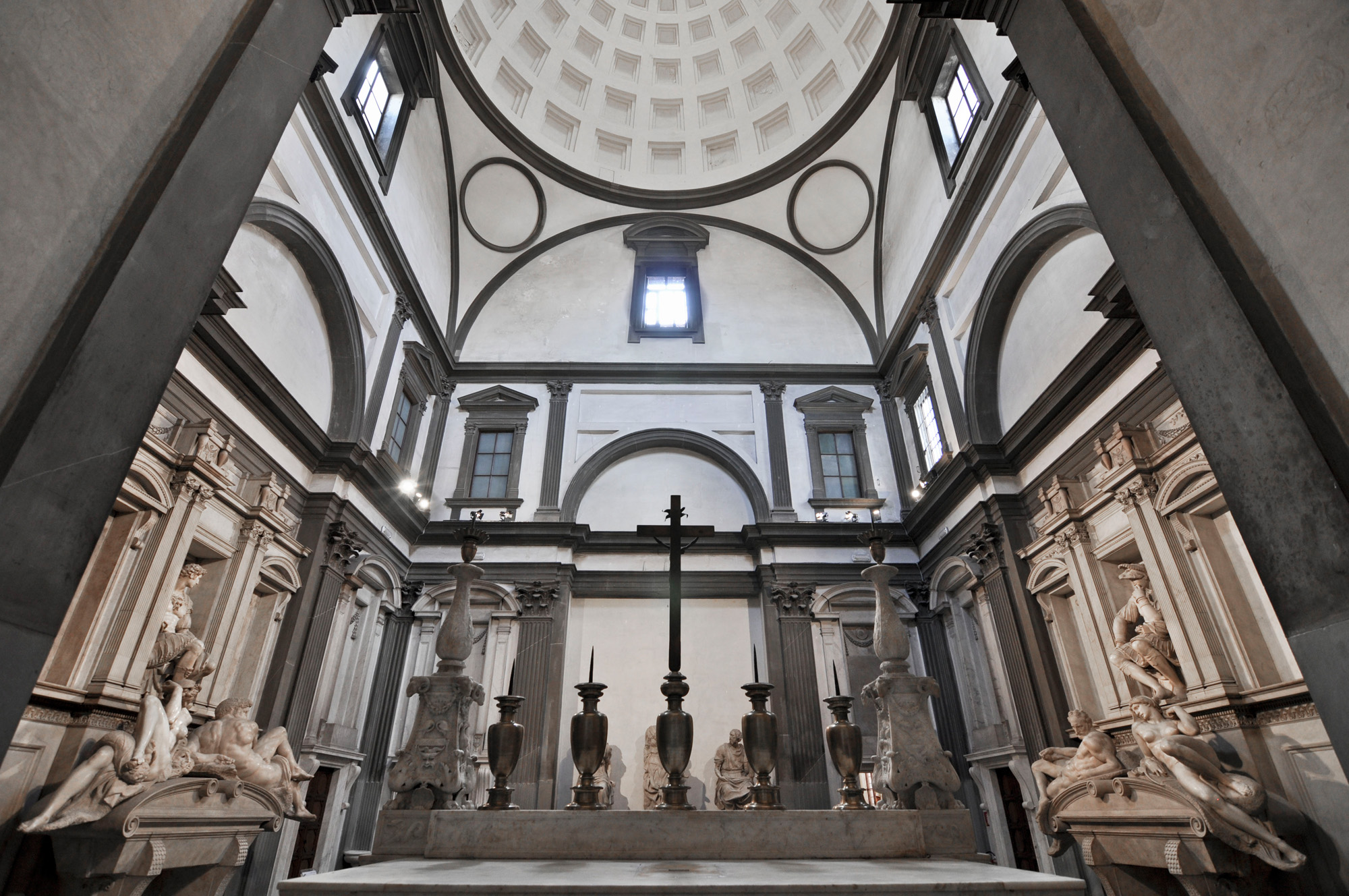 The Medici Chapels from behind the altarpiece