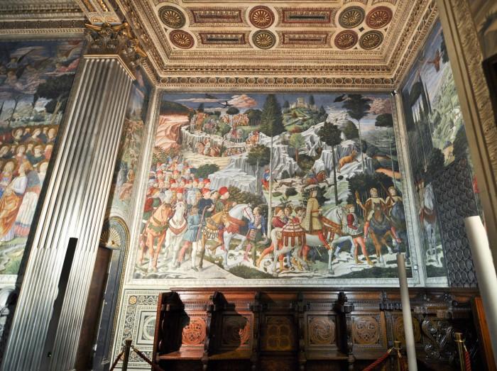 Procession of the magi in the private chapel of Palazzo Medici