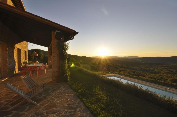 Casa Refogliano as the sun goes down