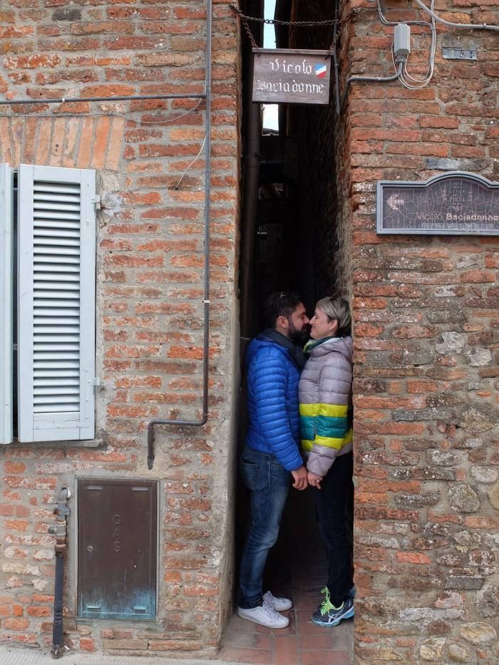 Tommaso and I in vicolo Baciadonne