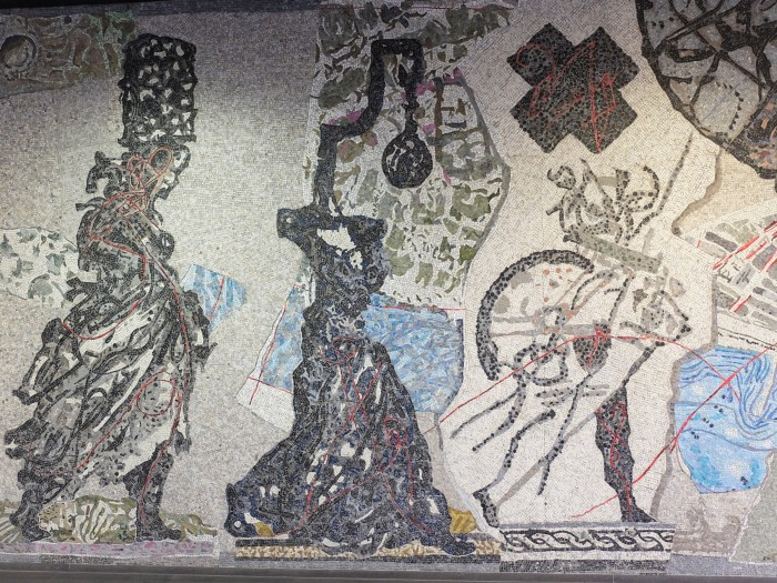 William Kentridge mosaic in the underground