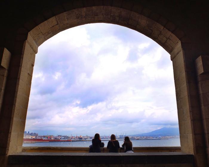 The view from Castello dell'Ovo