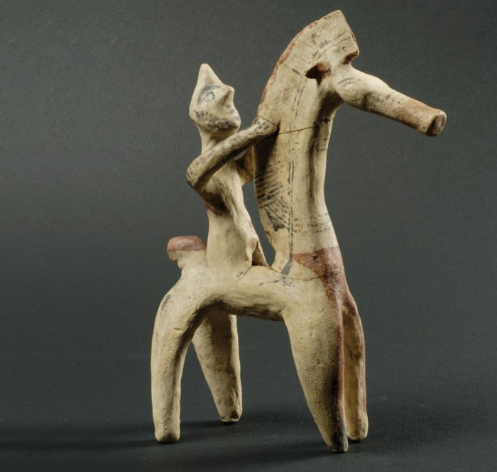 Horse and man (etruscan sculpture)