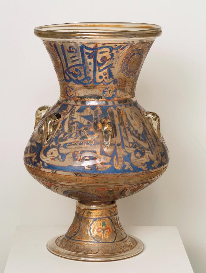 Lampada da moschea Egitto, XIV secolo Vetro soffiato e smaltato in policromia con doratura Torino, MAO – Museo d'Arte Orientale
