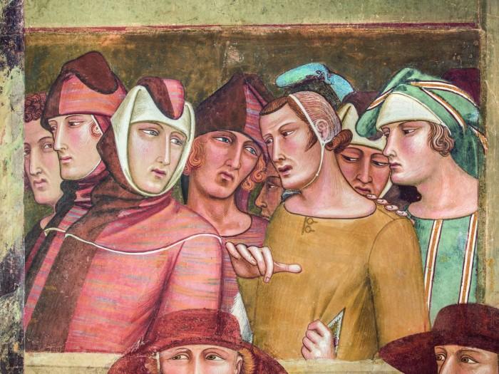 Professione pubblica di San Ludovico di Tolosa, 1334-1340 / Affresco staccato / Siena, Basilica di San Francesco