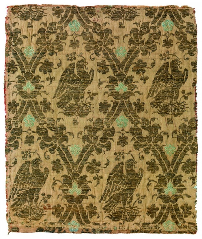 Fabric with ogyival pattern, Lyon textile museum
