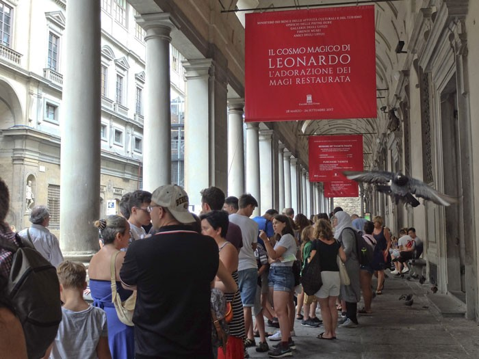 The line-up at the Uffizi in the Summer can be very long