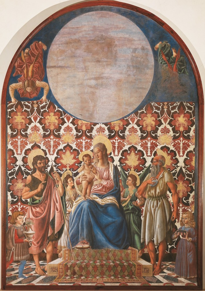 Castagno, Madonna enthroned