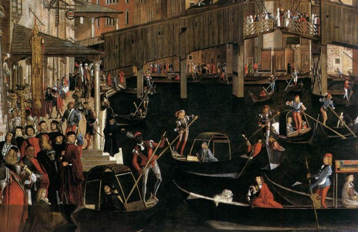 Detail of Carpaccio's Miracle of the Cross at the Ponte di Rialto