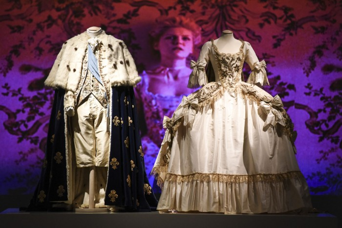 Display of the costumes at Museo del Tessuto