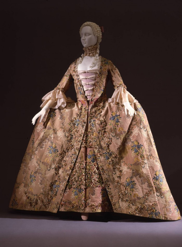 Womens dress from 1765, Italian, on loan from the Uffizi costume gallery