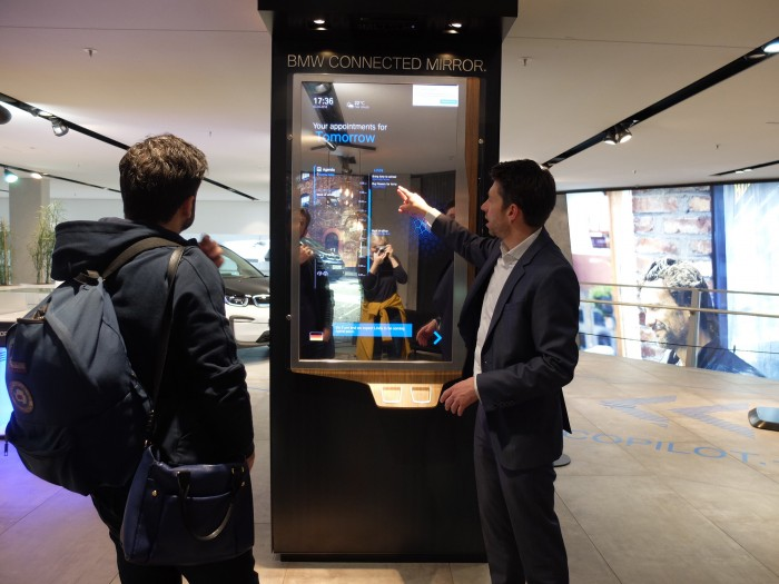 An exhibit of the present and future of BMW Connected services