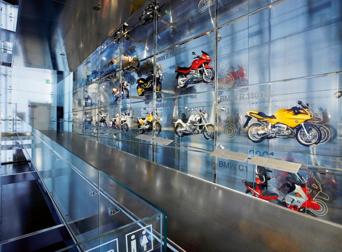 "BMW Museum - ""Wall of Motorcycles"""
