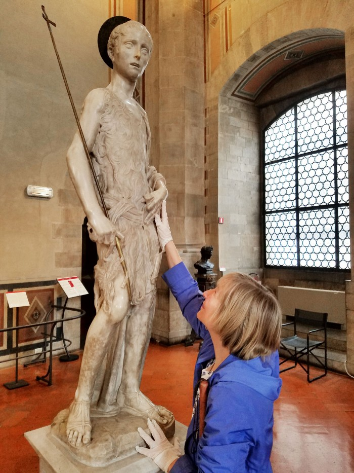 Touching at the Bargello