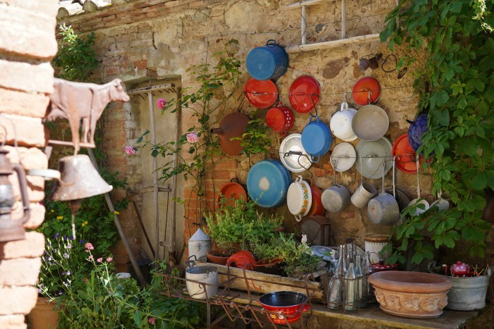Re-use... old pots find new life in many parts of this home