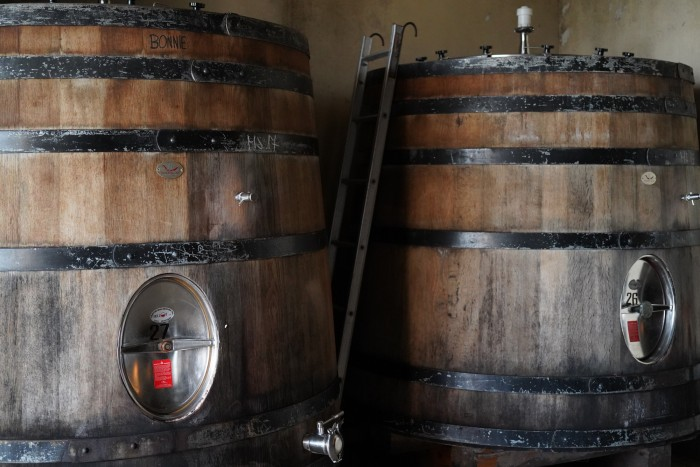 "Two casks named Bonnie and Hyde. His ""cantinere"" names everything."