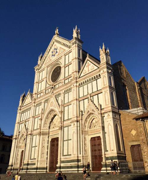 Churches like Santa Croce are a good place to stay cool mid-day