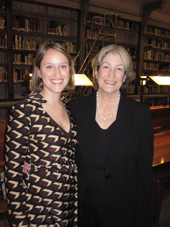 Jane Fortune graciously posed for this photo with me on November 20, 2009.