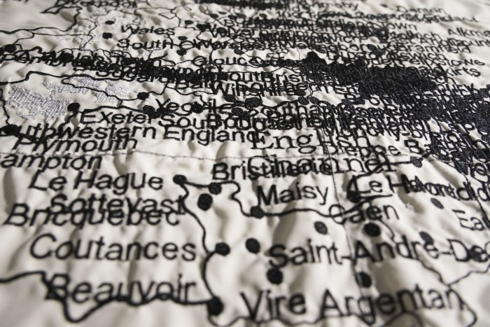 Embroidery of bombings