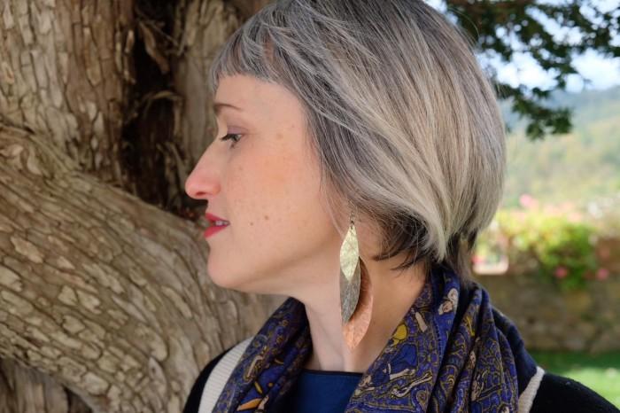 Leaf earrings by SLB