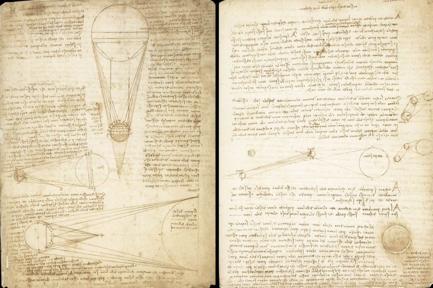 Leonardo da Vinci, Codex Leicester, 1r & 2r Courtesy Bill Gates/©bgC3