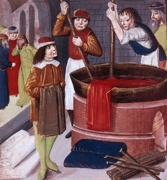 Medieval dyers at work. Photo: Art Resource, New York.